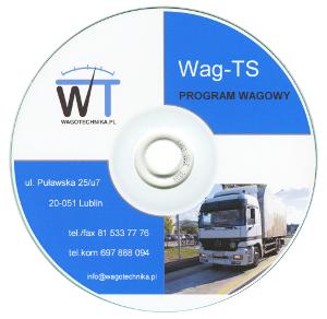 płyta cd z programem wagowym wag-ts