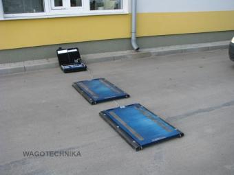 Waga samochodowa podkładkowa na drodze